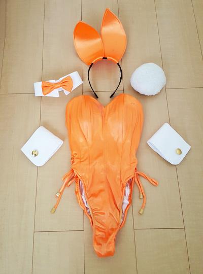 アトリエダーム製オレンジバニー衣装